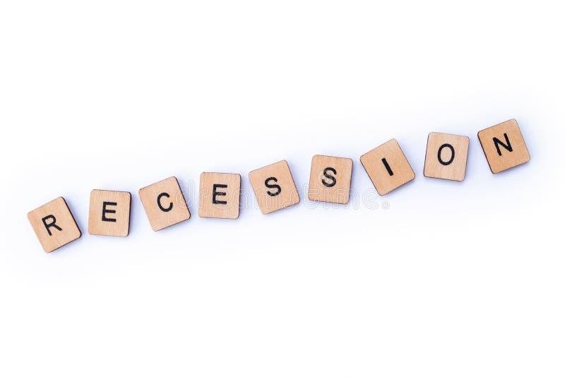 recessione fotografia stock libera da diritti