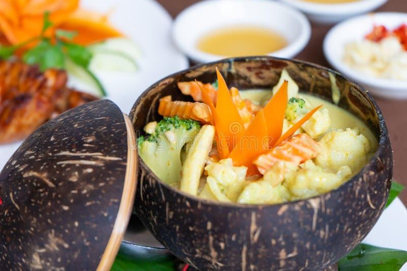 Receta camboyana Amok de la comida de Vegetarain foto de archivo libre de regalías