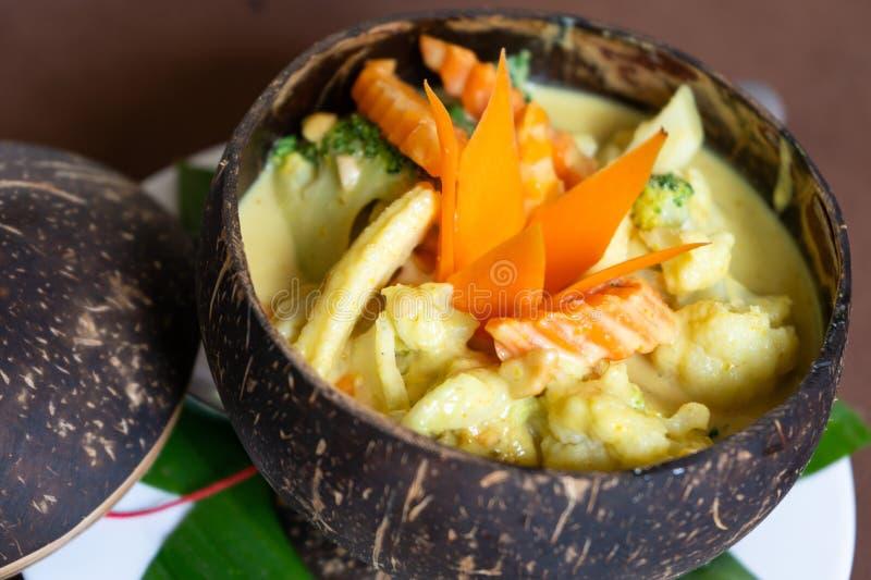 Receta camboyana Amok de la comida de Vegetarain imágenes de archivo libres de regalías