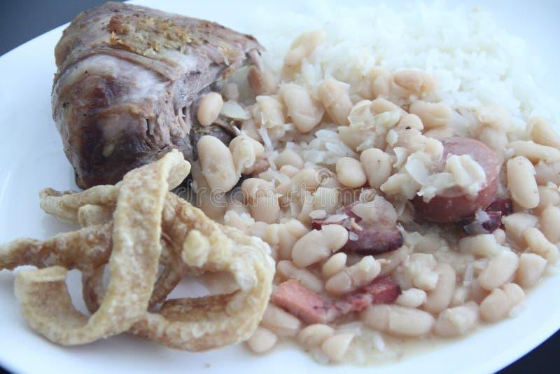Receta cocinada comida brasileña tradicional de Dobradinha que cocina el sao Paulo Brazi imagen de archivo libre de regalías