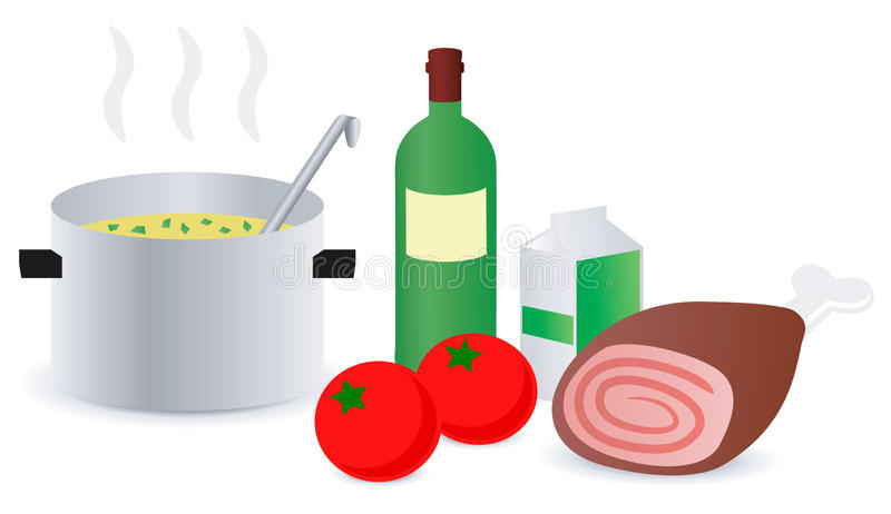 Receta de la sopa ilustración del vector