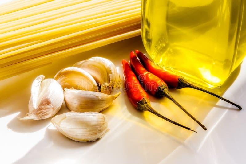 Receta italiana de los espaguetis imagen de archivo