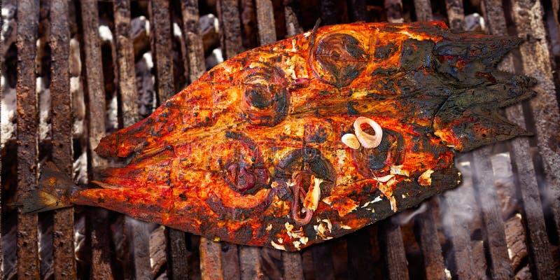 Receta maya del tikinchik mexicano de los pescados de la caballa de Sierra imagen de archivo libre de regalías