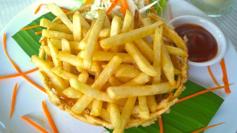 Receta perfecta de las patatas fritas foto de archivo libre de regalías