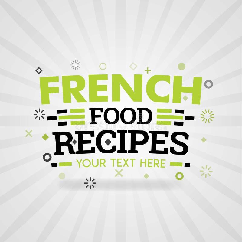 Recetas francesas de la comida en América con el logotipo sabroso de la comida y de la red de la comida libre illustration