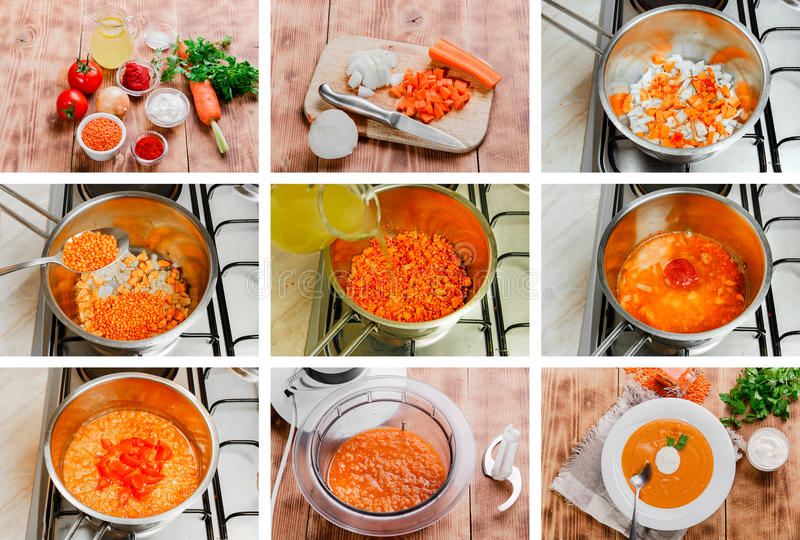 Recette tape par tape pour faire cuire la soupe image stock image du recette potage 55855653 - Appareil pour faire la soupe ...