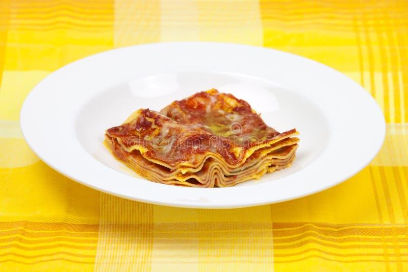 Recette italienne bolonaise d'alla de lasagne images libres de droits