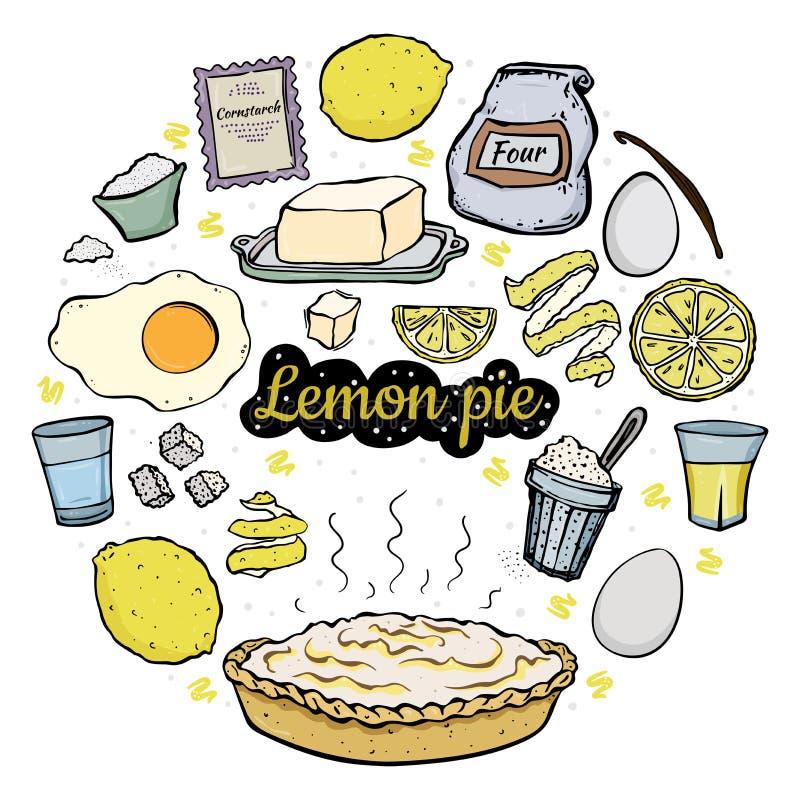 Recette ouverte de tarte de citron illustration libre de droits
