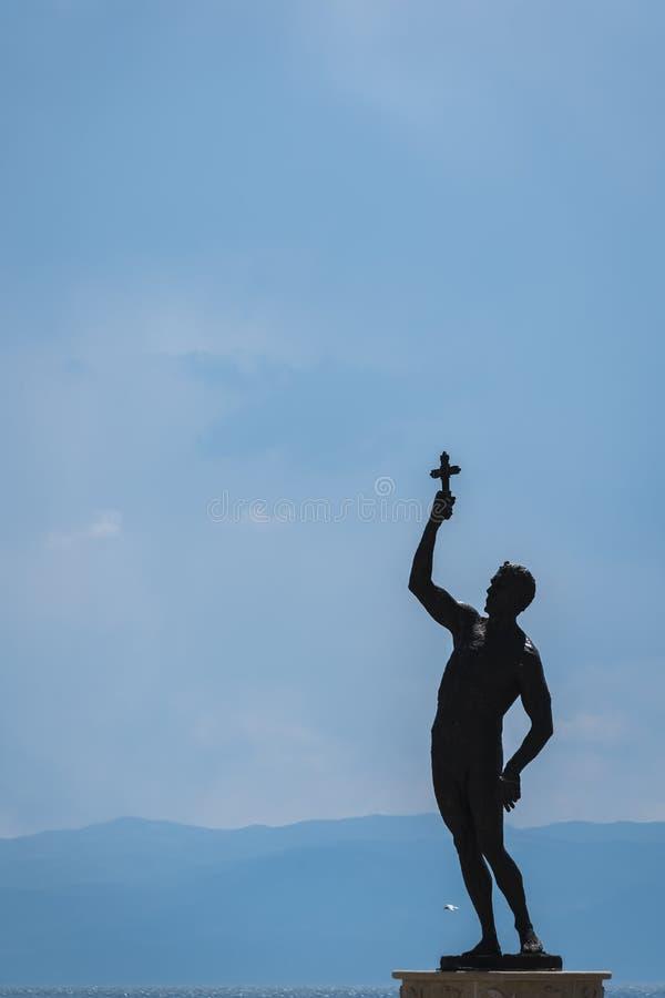 Receveur d'une statue croisée photo libre de droits