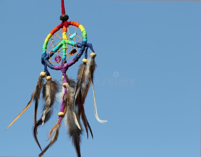 Receveur rêveur avec le fond de ciel bleu image libre de droits