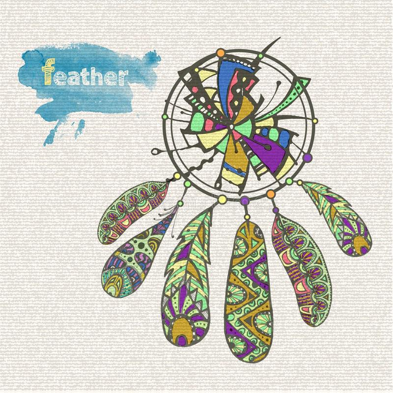 Receveur rêveur décoratif illustration de vecteur