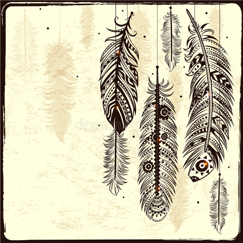 Receveur rêveur ethnique illustration de vecteur