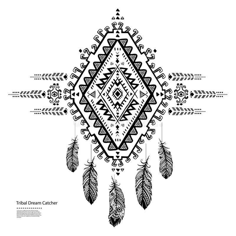 Receveur rêveur indien ethnique illustration stock