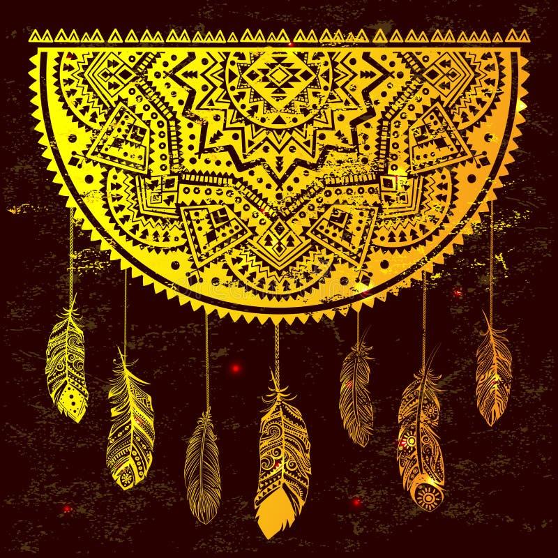 Receveur rêveur indien ethnique illustration libre de droits