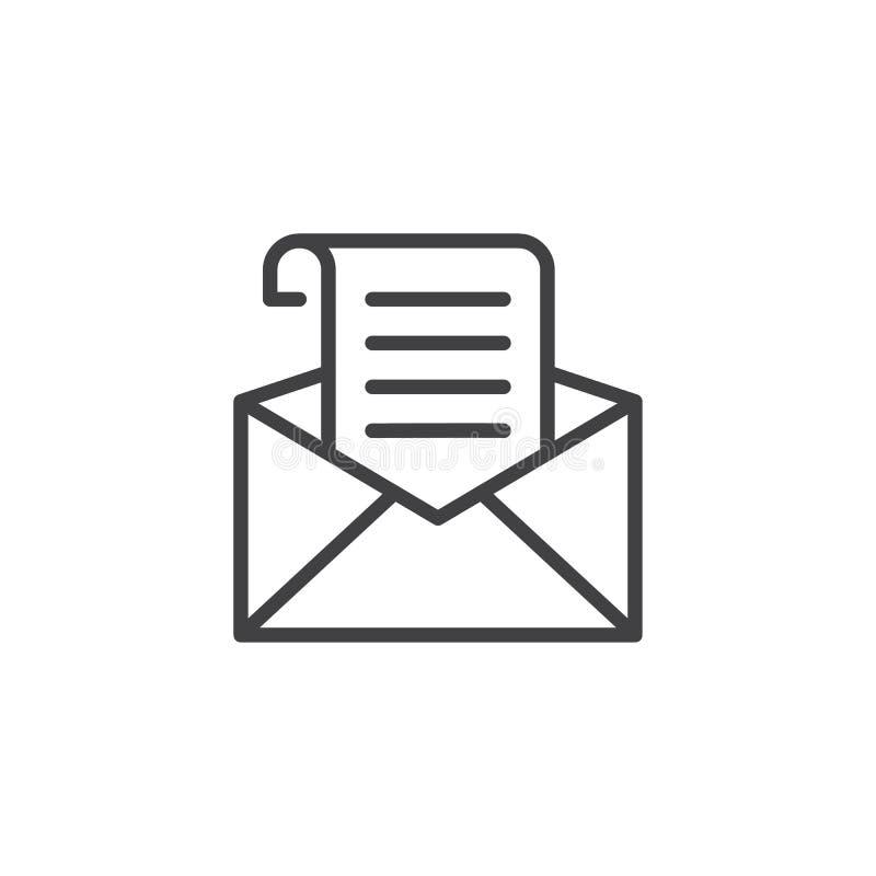 Recevez l'icône d'ensemble de courrier illustration de vecteur