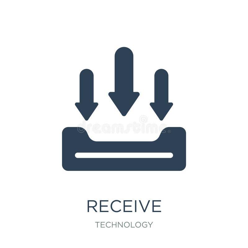 recevez l'icône dans le style à la mode de conception recevez l'icône d'isolement sur le fond blanc recevez le symbole plat simpl illustration stock