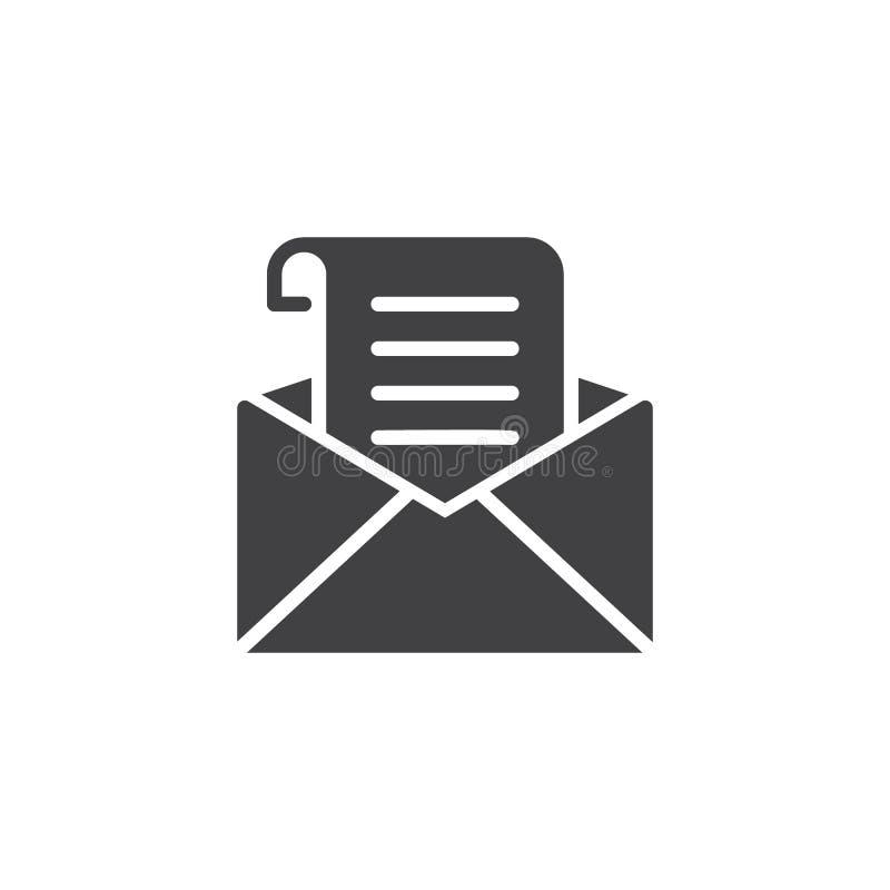 Recevez l'icône de vecteur de courrier illustration de vecteur