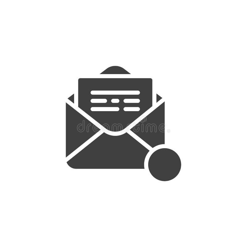 Recevez l'icône de vecteur d'avis d'email illustration de vecteur