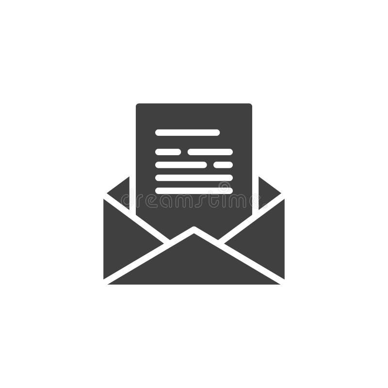 Recevez l'icône de vecteur de message électronique illustration libre de droits