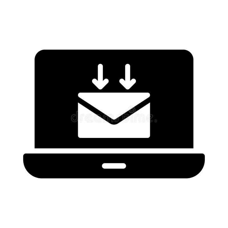 Recevez l'icône plate de vecteur de glyph illustration libre de droits