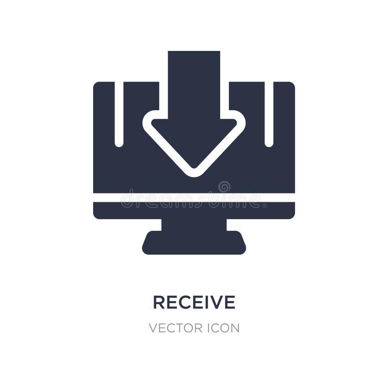 recevez l'icône sur le fond blanc Illustration simple d'élément de concept de technologie illustration libre de droits