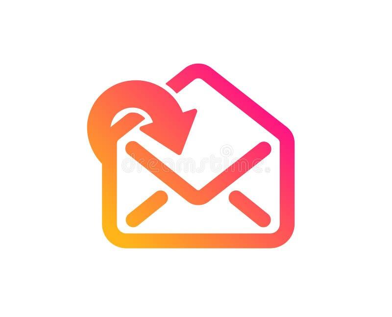 Recevez l'ic?ne de t?l?chargement de courrier Signe de correspondance de messages entrants Vecteur illustration de vecteur