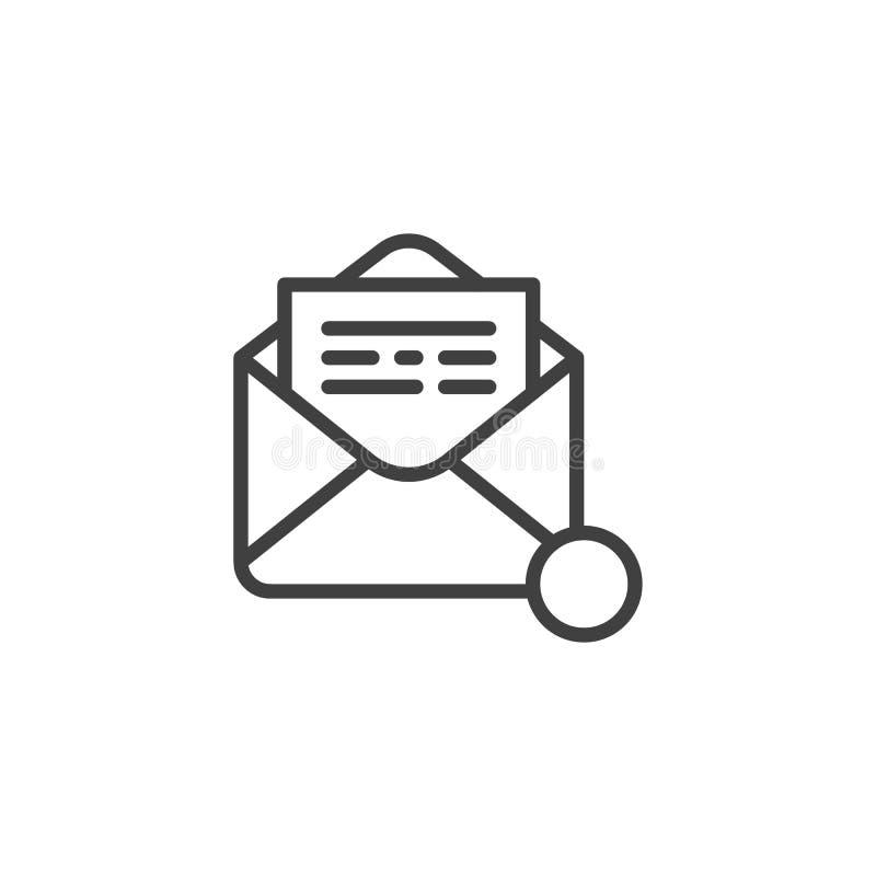 Recevez la ligne icône d'avis d'email illustration libre de droits