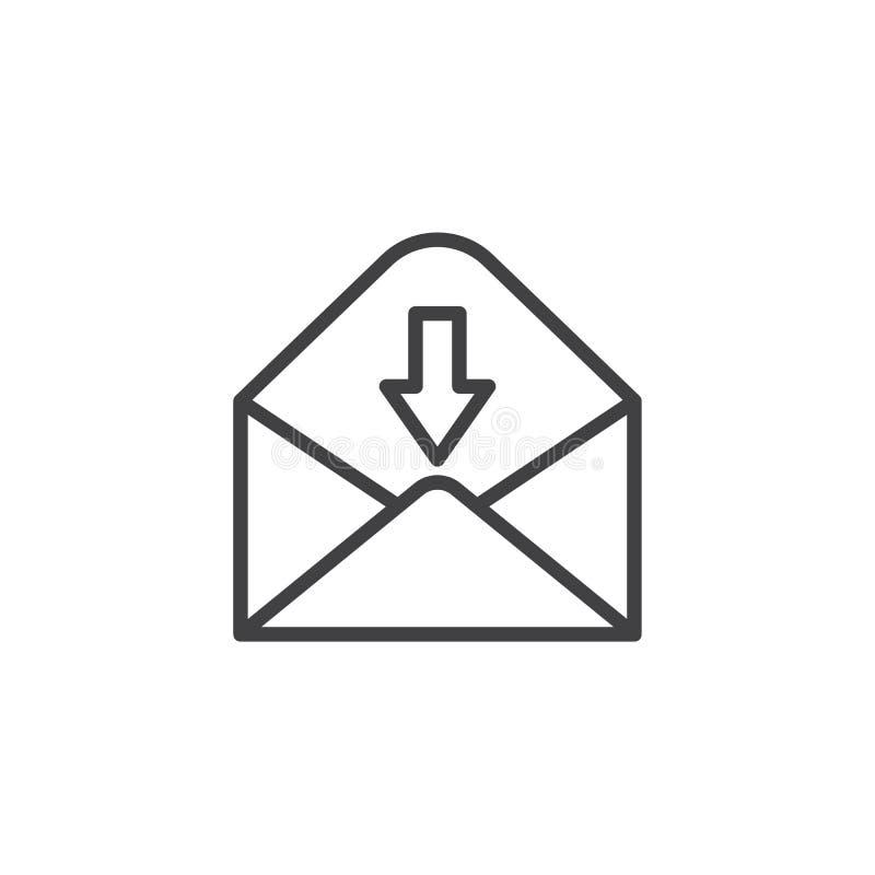 Recevez la ligne icône d'email illustration libre de droits