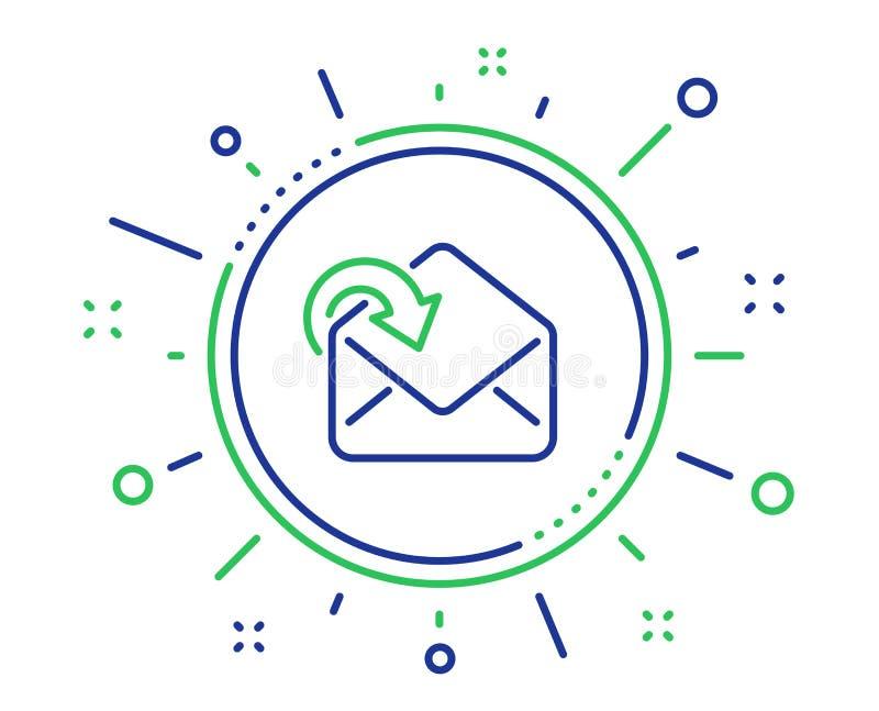 Recevez la ligne ic?ne de t?l?chargement de courrier Signe de correspondance de messages entrants Vecteur illustration de vecteur