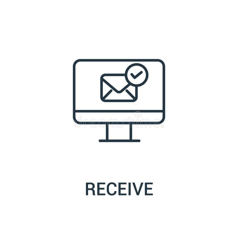 recevez le vecteur d'icône de la collection d'annonces La ligne mince reçoivent l'illustration de vecteur d'icône d'ensemble Symb illustration de vecteur