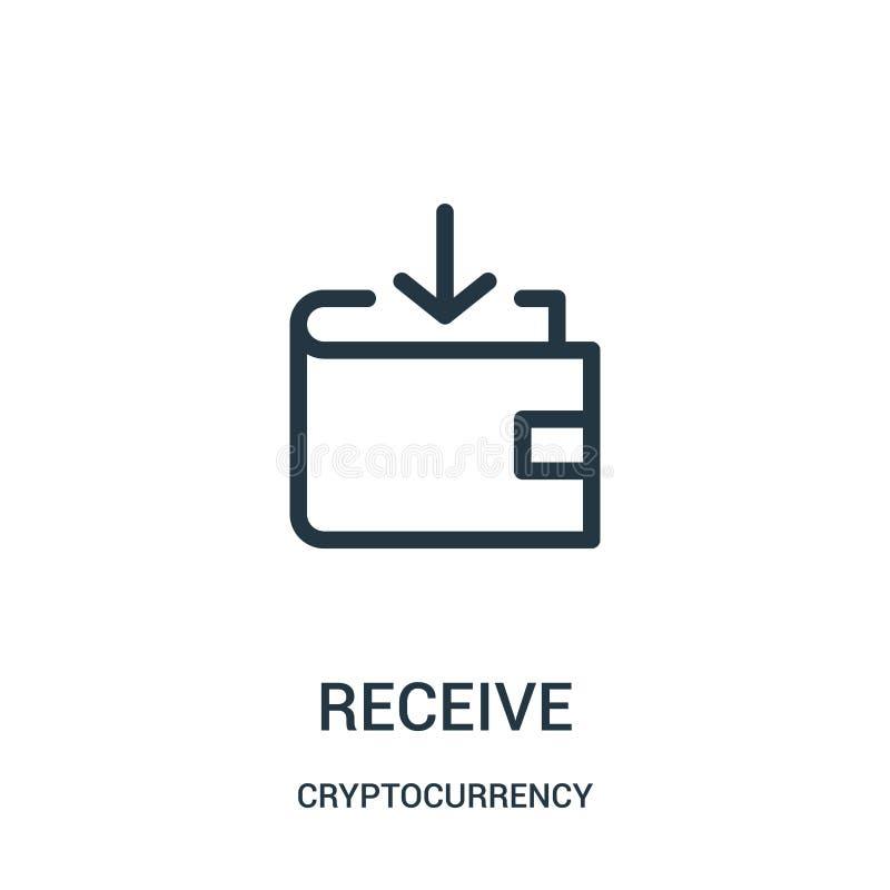 recevez le vecteur d'icône de la collection de cryptocurrency La ligne mince re?oivent l'illustration de vecteur d'ic?ne d'ensemb illustration de vecteur