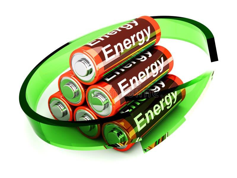 Rechargable Batterien lizenzfreie abbildung