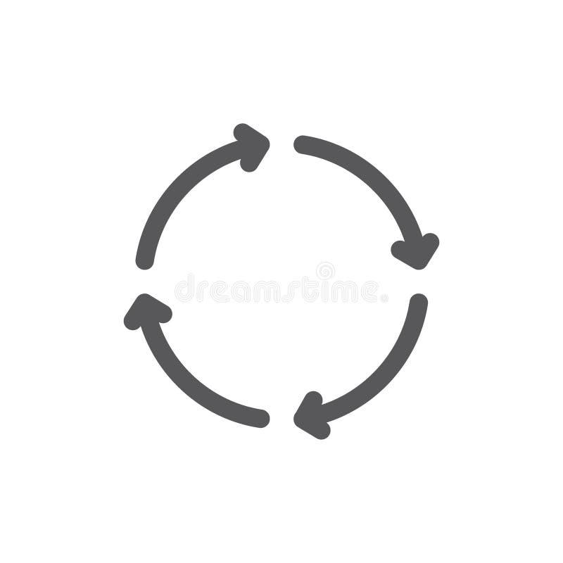 Recharge et ligne ic?ne de r?p?tition illustration stock