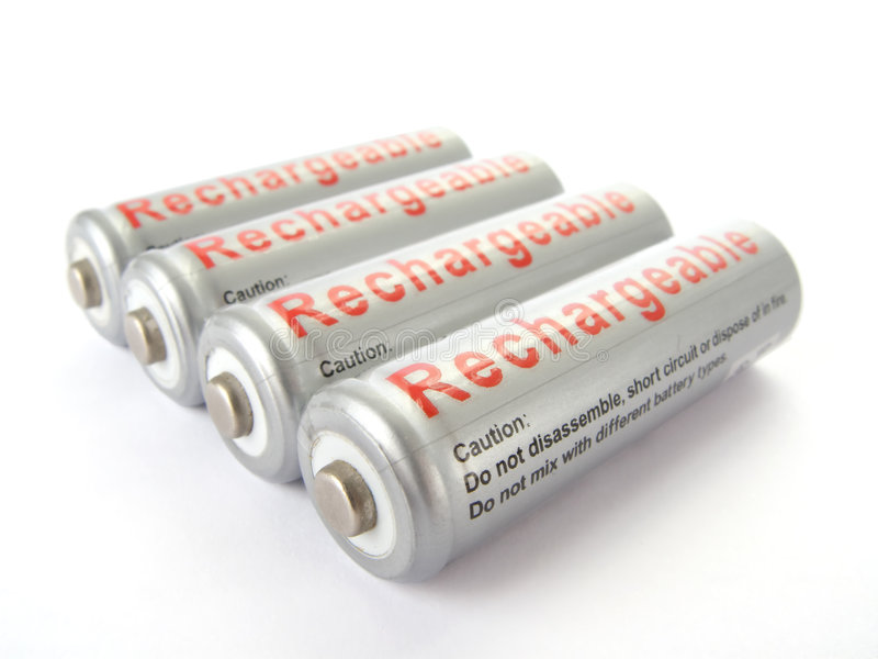 Rechargeable batteries royalty free stock image