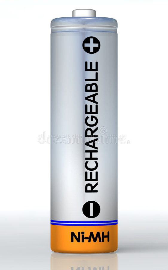 Rechargeable battery stock illustration
