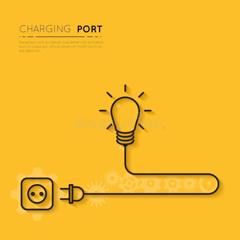 Rechargez votre créativité Puissance pour des idées créatives illustration stock