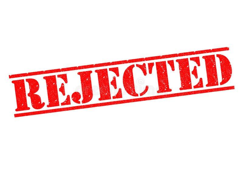 rechazado stock de ilustración
