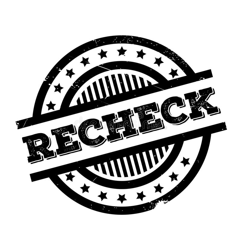Recheck rubber stamp. Grunge design with dust scratches. Effects can be easily removed for a clean, crisp look. Color is easily changed royalty free illustration