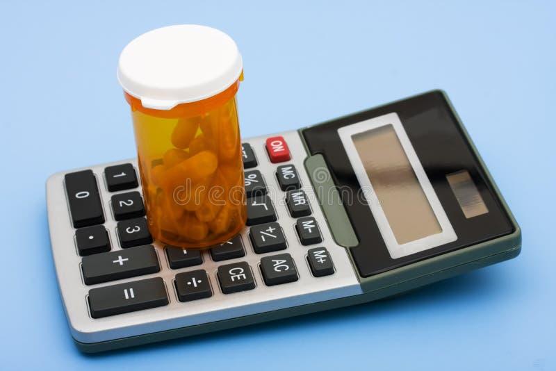 Rechengesundheitspflege-Kosten lizenzfreie stockfotos