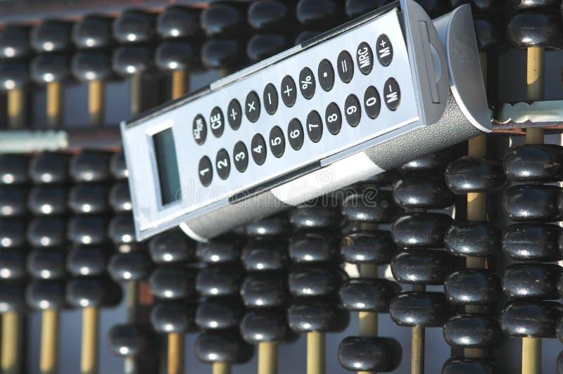 Rechenmaschine und Rechner stockbilder