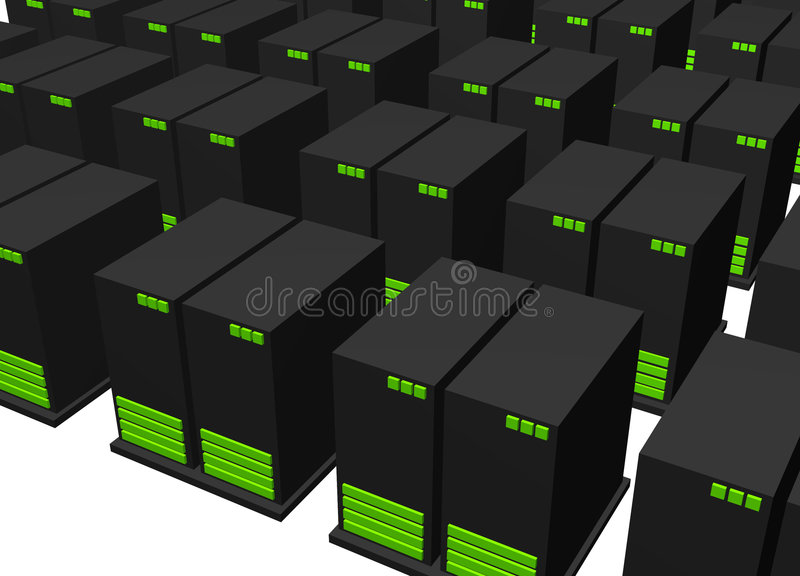 Rechenzentrum für Web-Bewirtungs-Teildienst lizenzfreie abbildung