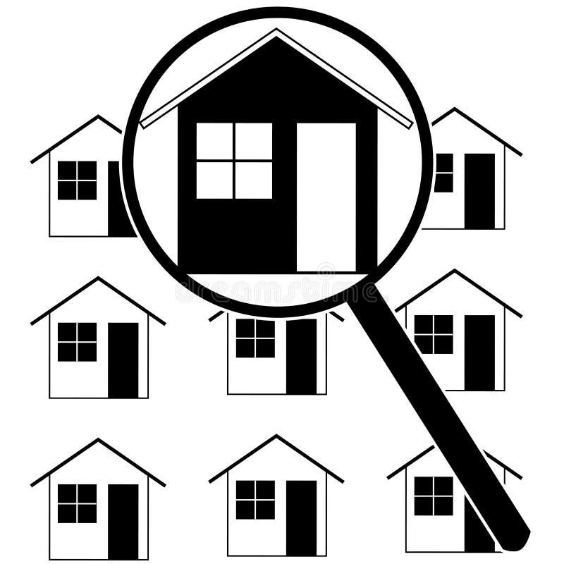 Recherche à la maison illustration de vecteur