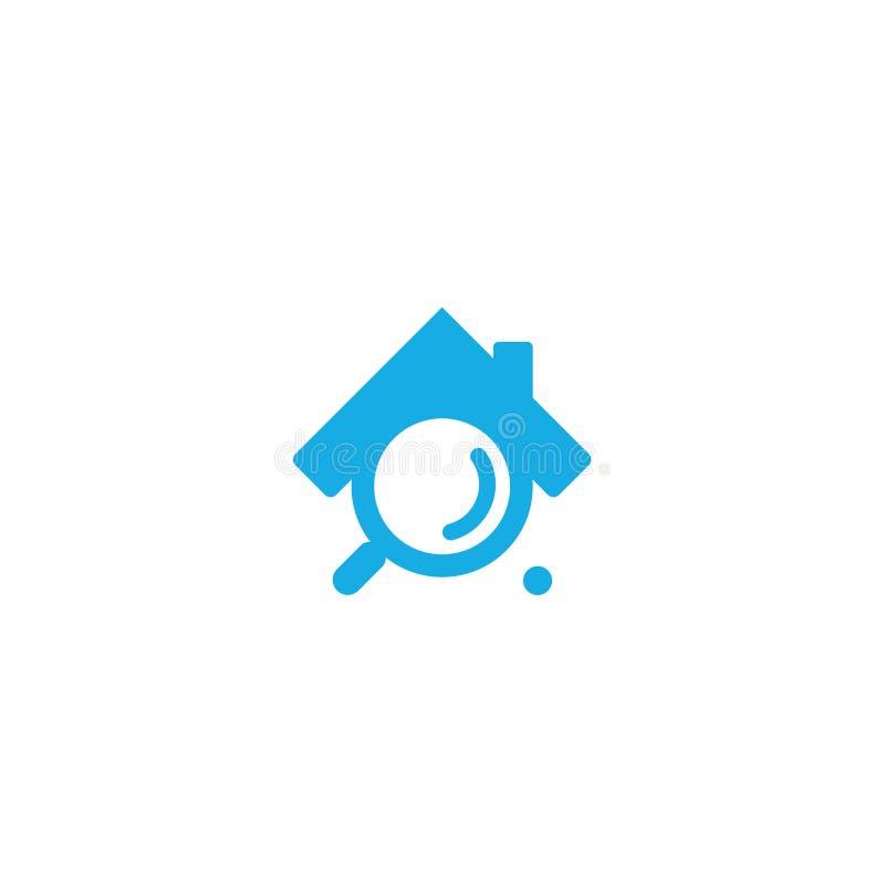 Recherche à la maison dans le bleu illustration de vecteur