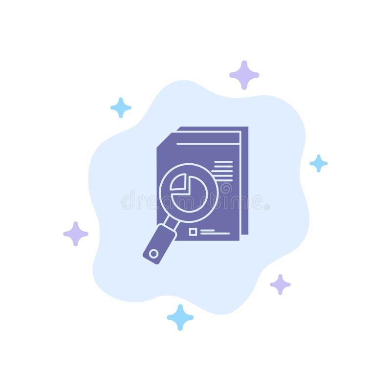 Recherche, analyse, analytique, Analytics, diagramme, données, icône bleue de graphique sur le fond abstrait de nuage illustration de vecteur