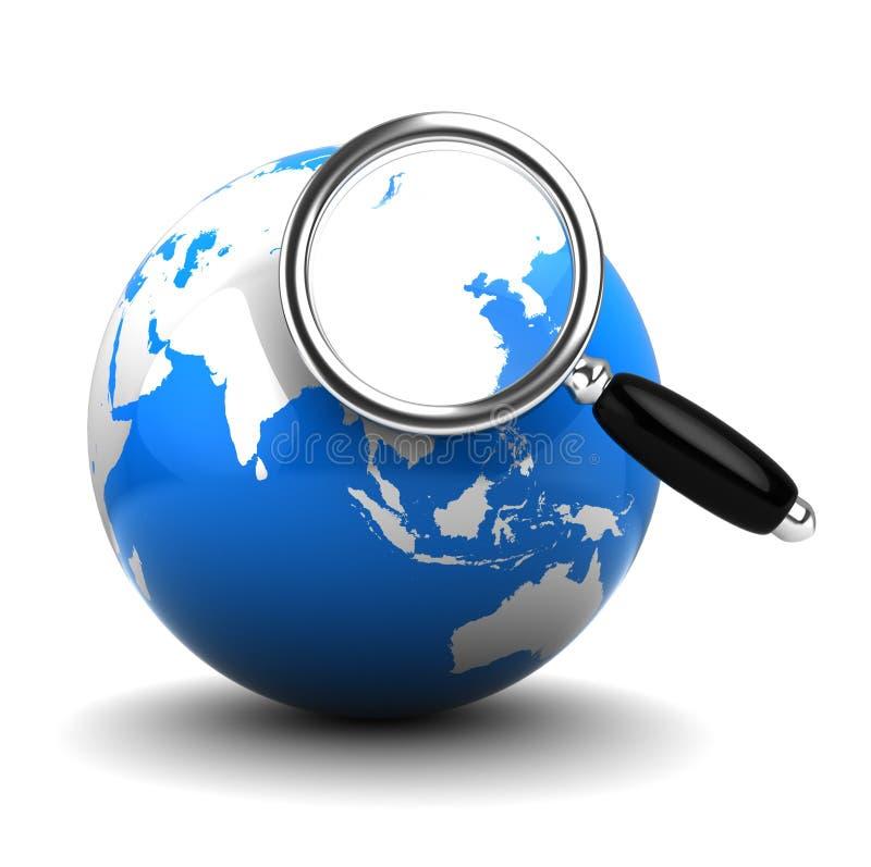 Recherche auf Erde vektor abbildung