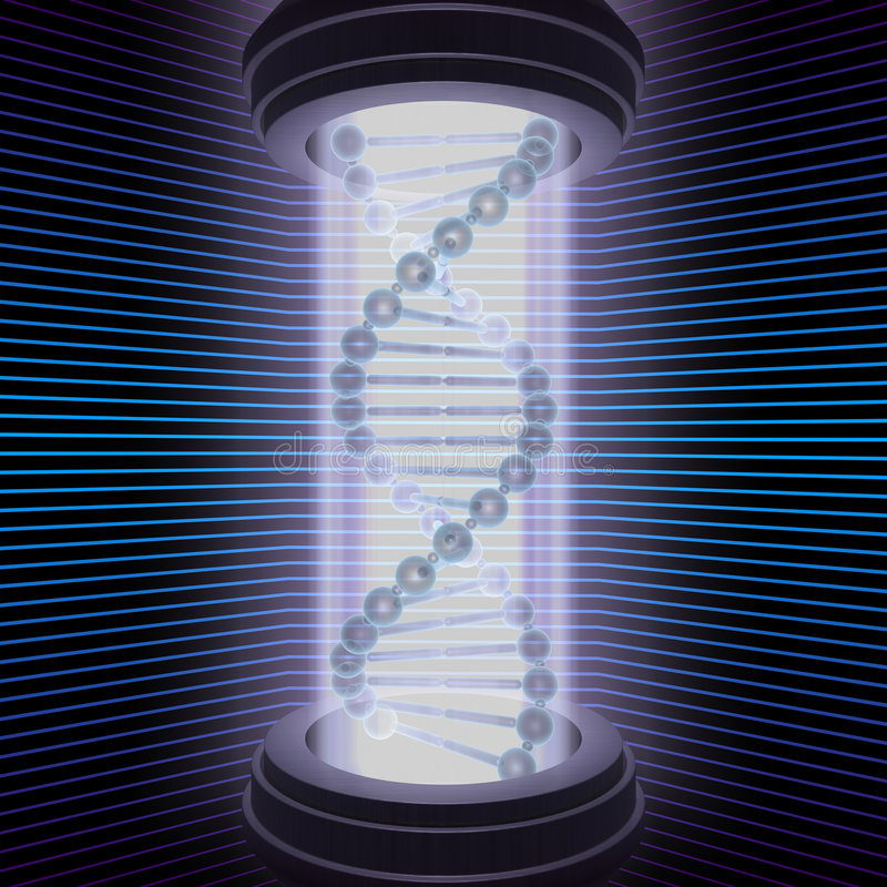 Recherche d'ADN illustration stock