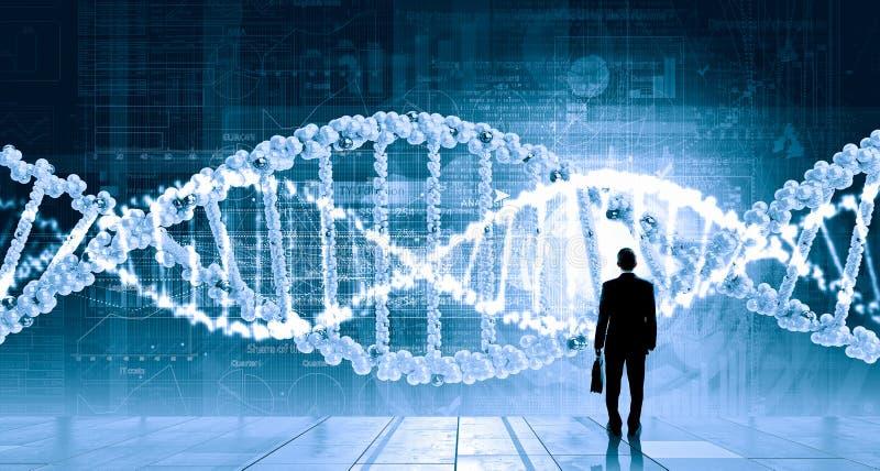 Recherche d'ADN image stock