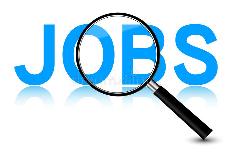 Recherche d'un emploi illustration stock