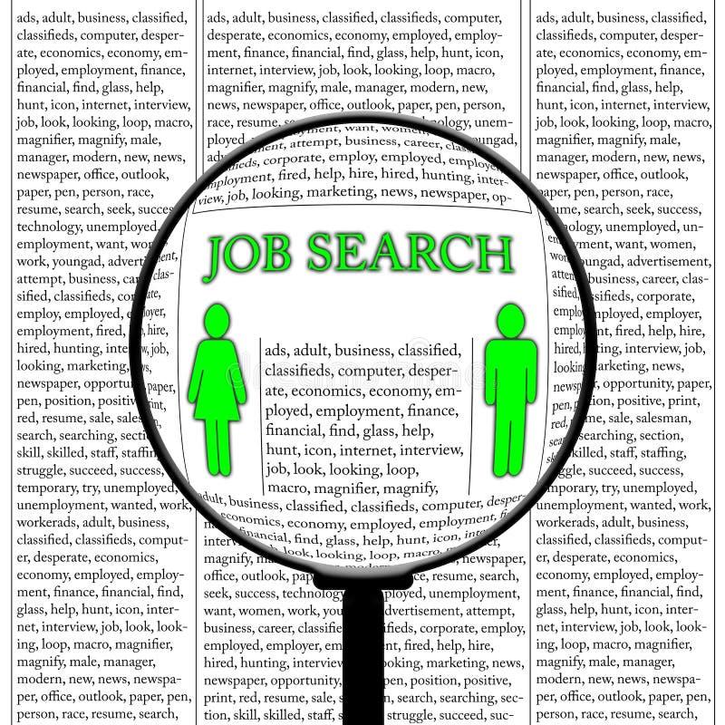 Recherche d'un emploi illustration libre de droits