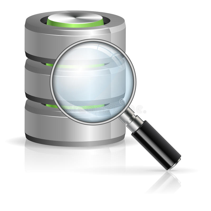 Recherche dans le concept de base de données illustration libre de droits